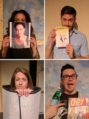 """From the top left, Jessica Medoff, Grant Fitzgerald, Ryan Bowie and Beth Kirby star in [title of show] at the Roxy Regional Theatre, April 28 - May 13"""""""