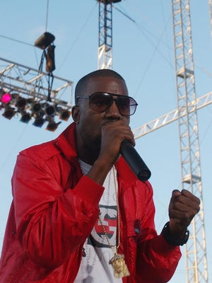 Kanye West headlines a concert at the Indiana State Fair at the Toyota Trucks Grandstand in 2006.