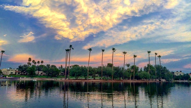 Paradise. Or Chaparral Park in Scottsdale. Tiffany Routon of Mesa snapped this image after a monsoon storm. See more of her photos at instagram.com/girlphx.