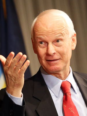 Dennis Richardson pictured at the Sentinel Hotel in Portland. Richardson, a six-time legislator, is a Republican candidate for secretary of state.