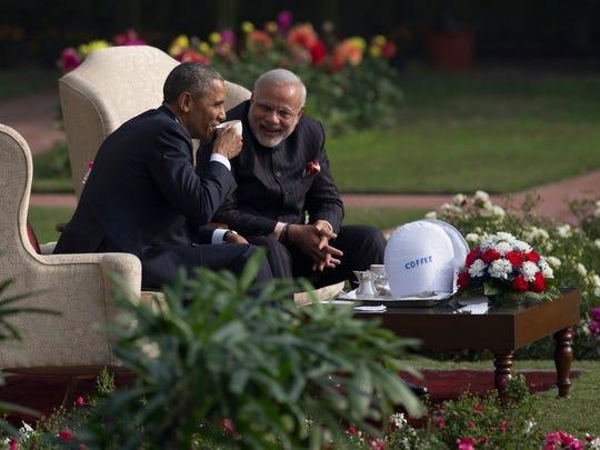 President Obama and Indian Prime Minister Narendra