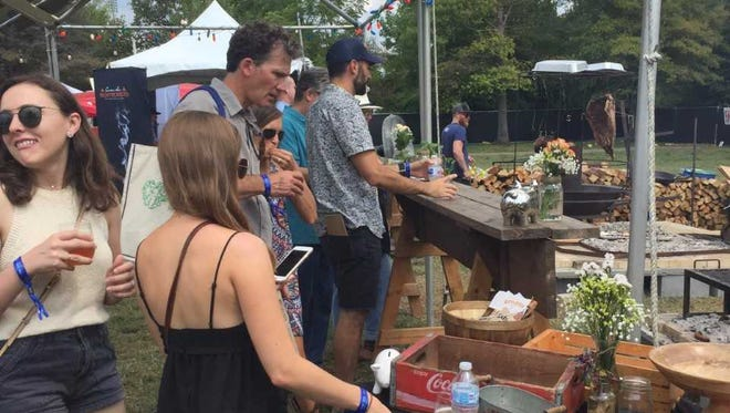 Thousands came during the 5th annual Music City Food + Wine festival at Bicentennial Park on Sept. 16, 2017.