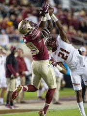 Florida State wide receiver Keith Gavin (89) and Boston College defensive back Lukas Denis (21) will go head-to-head once again this fall.