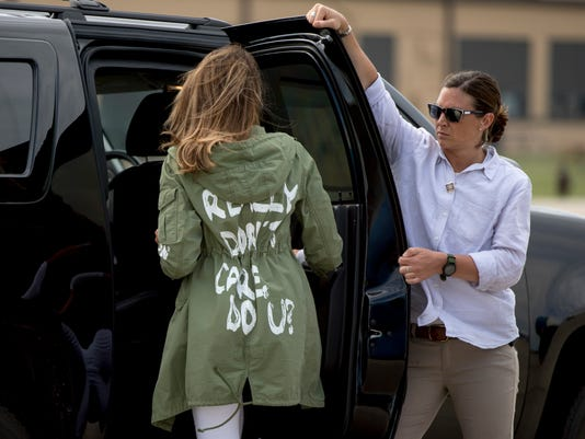 AP APTOPIX MELANIA TRUMP A USA MD