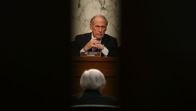 WASHINGTON, DC - Sen. Dan Coats (R-Ind.), listens Dec. 3, 2015, to Federal Reserve Chairman Janet Yellen testify during a Joint Economic Committee hearing on Capitol Hill in Washington, D.C.
