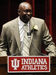Former Indiana basketball player Steve Downing was inducted into the Indiana University Athletics Hall of Fame on Nov. 6, 2009.