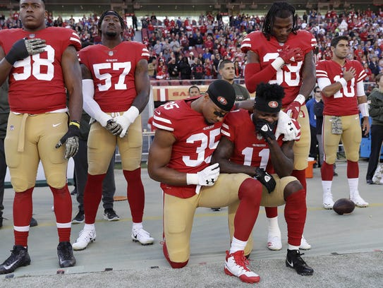 San Francisco 49ers safety Eric Reid and wide receiver