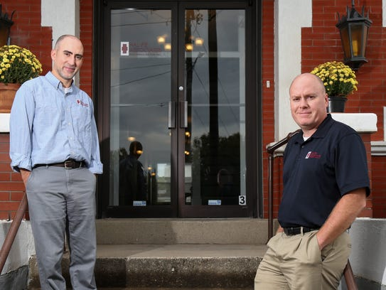 Shane Gosney, left, and Dean Gosney, right, of Hal-Pe