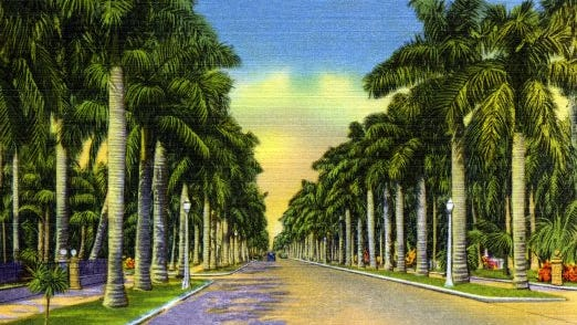 Vintage postcard from Fort Myers