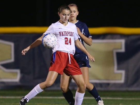 Fairport senior forward Claire Myers, the daughter