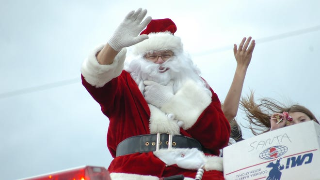 Santa Claus will be making the rounds at Christmas parades through Central Louisiana this weekend.