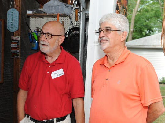 Ken Pierce (left) and Bill Harrison were two of seven players from the 1968 Garden City West baseball team to attend the reunion.