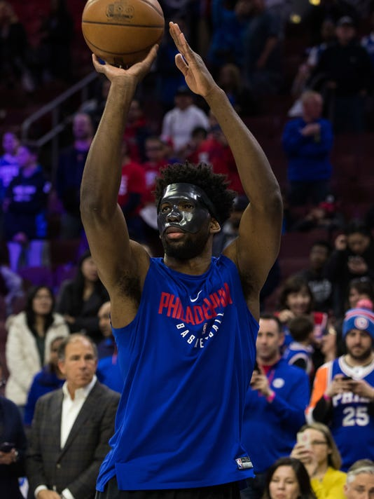 faec4743a33 76ers  Embiid  unlikely  for playoff Game 1 with eye injury