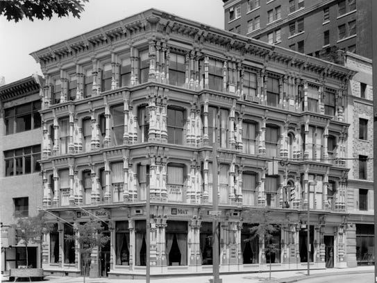 The Perry Block, once home to McLean's, around 1980.
