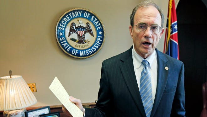 Mississippi Secretary of State Delbert Hosemann said the Justice Department doesn't need to send federal observers or monitors to the state to watch for election problems. He said the state has its own monitors.