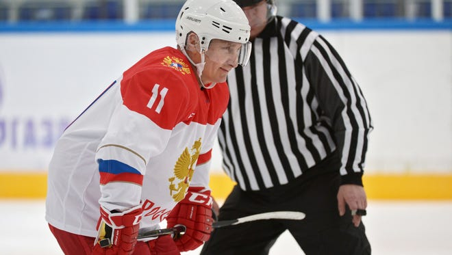 Russian President Vladimir Putin has taken part in a few hockey exhibitions over the years and usually gets a royal treatment.