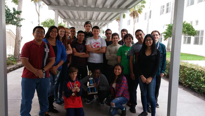LaBelle High School sent 18 students to the Cypress Bay Region V Math Competition in Weston, Fla., recently.