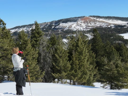 Snowshoeing is popular in Dry Canyon in the Big Snowy