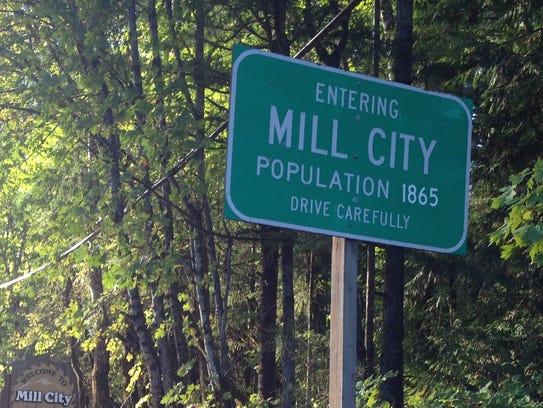 Mill City, Oregon.