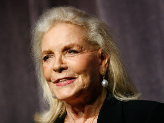Lauren Bacall at the Toronto International Film Festival in 2007.