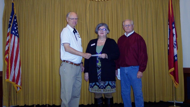 The Mountain Home Elks Lodge recently donated $500 to Kindness Inc. to help provide essential services to area seniors who need help to remain independent in their own homes. Shown, from left, Don Swanson, Elks president; Debbie Wamock, Kindness Inc. executive director; and Butch Holligan Elks Benevolence committee member.