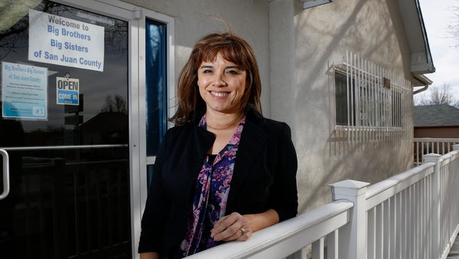 Christine Garcia, outgoing CEO of Big Brothers Big Sisters of San Juan County, stands for a photo Friday at the nonprofit organization's office in Farmington.