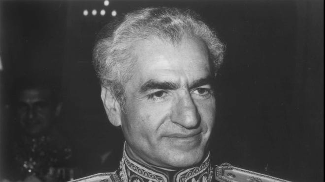 The Shah of Iran in a 1995 photo.