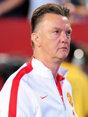 Manchester United manager Louis Van Gaal looks to get a crucial three points in the Manchester derby.