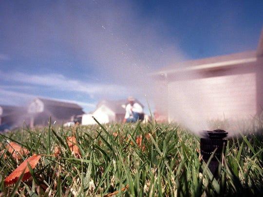 Lawn watering.