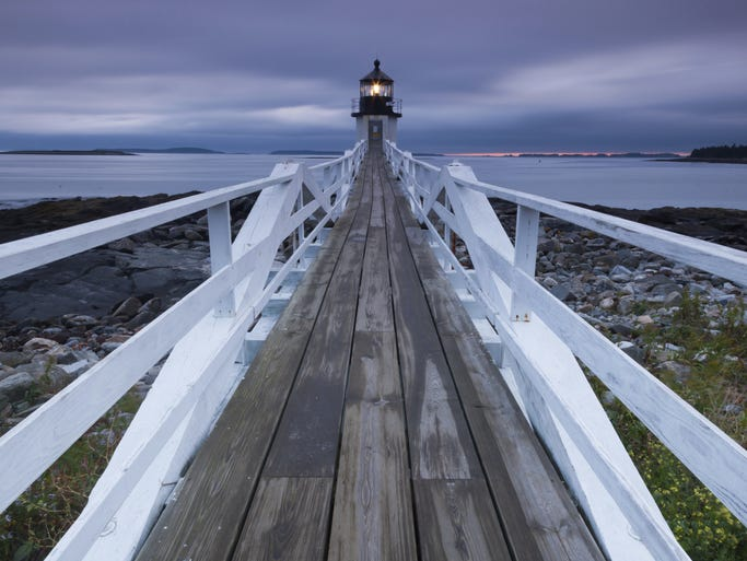 Maine, the northernmost and easternmost portion of New England, is famous for its rocky coastline, forested interior, quaint fishing villages and excellent seafood. Pictured here is Marshall Point.
