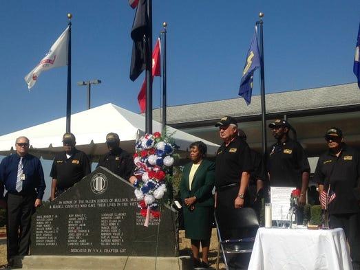 A memorial honoring local Vietnam veterans who died