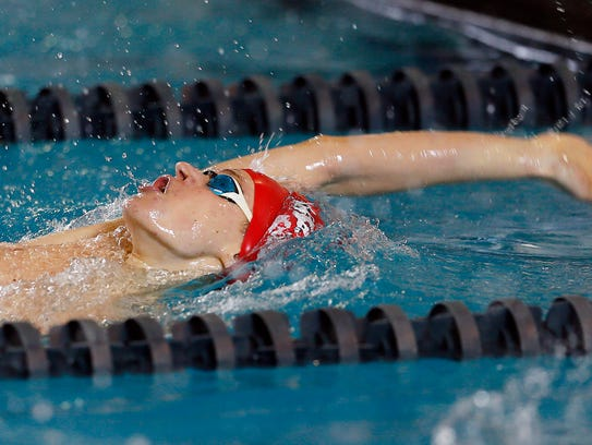 Mendham's Lukas Scheidl swims the boys 200 yard IM