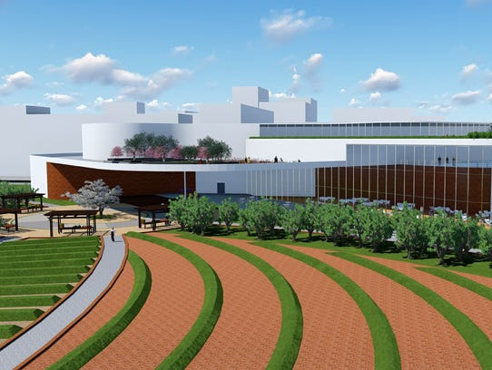 A rendering shows Fredric Byarm's Invincible City Farms,