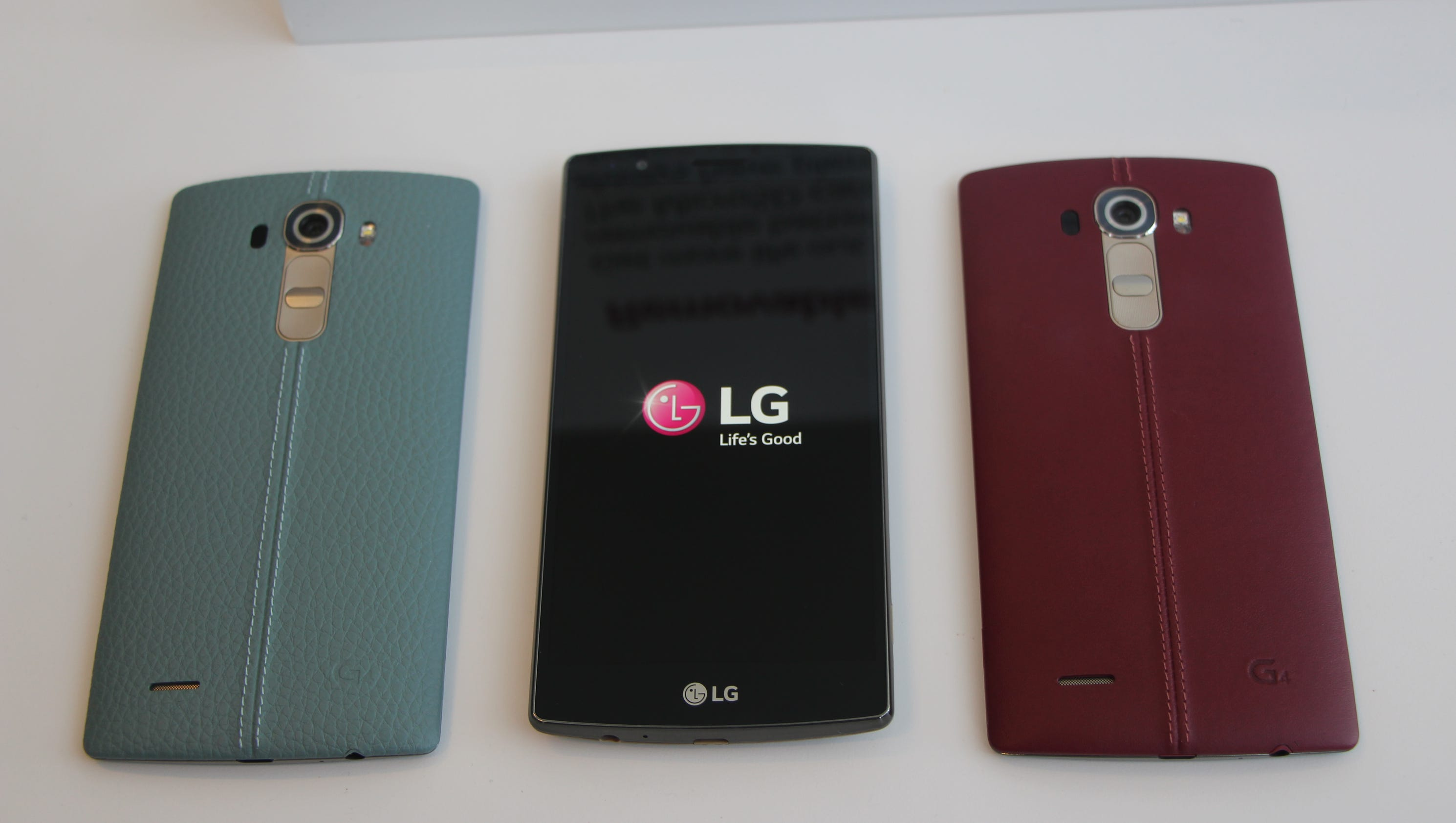 First look: LG's leather-clad G4 smartphone looks to fight ...