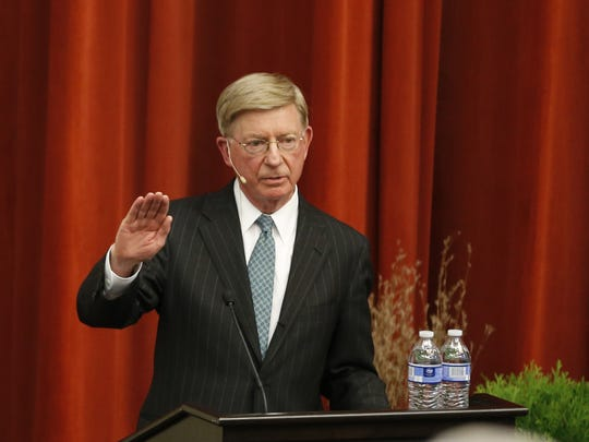 Nationally syndicated columnist George Will speaks at Miami University.