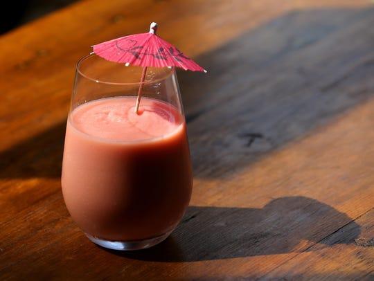 A refreshing Blood Orange wine slushie from Apogee