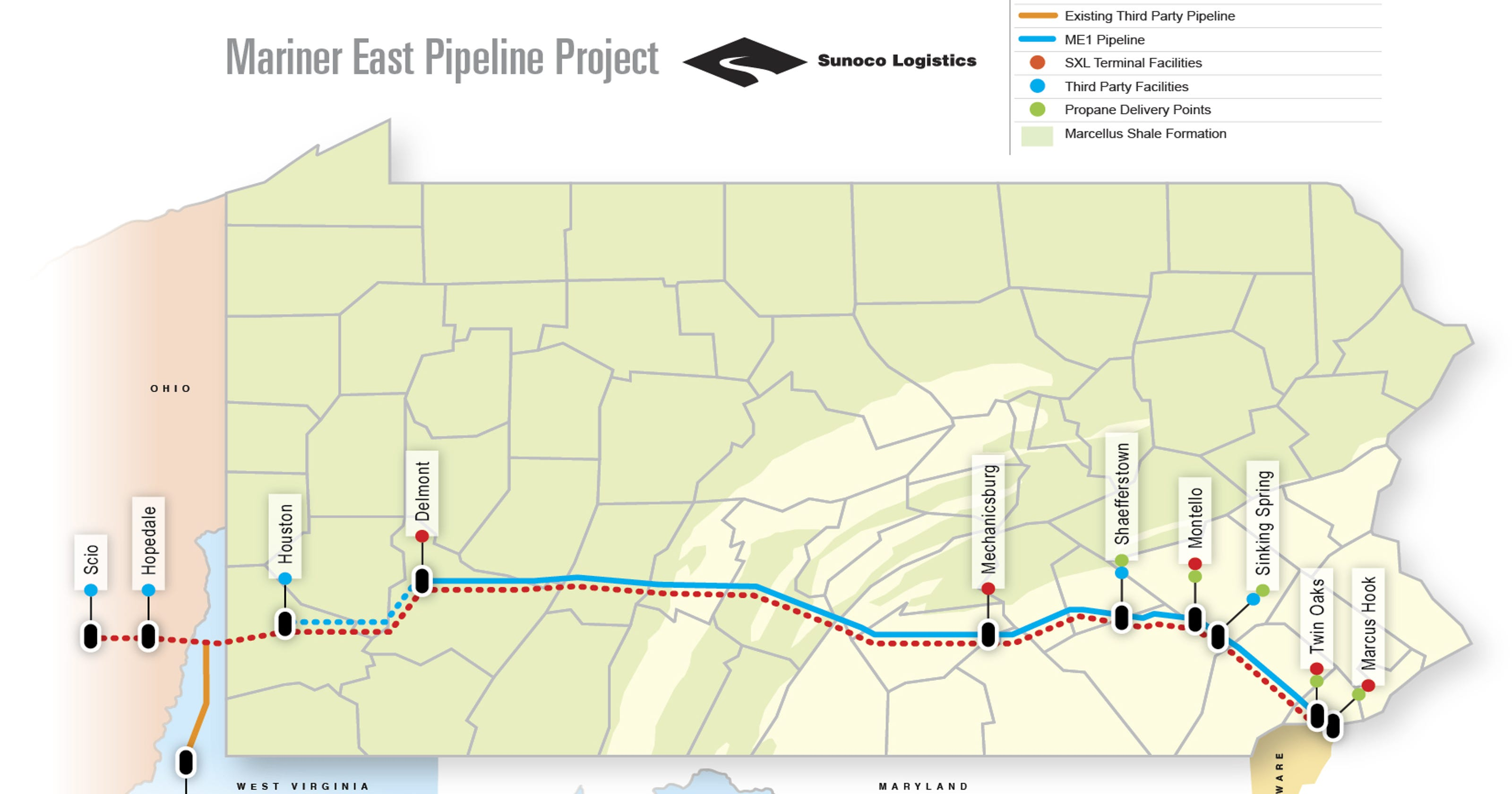 Pennsylvania And Ohio Map.Two Pipelines In Pennsylvania Ohio Rack Up More Than 800 Violations