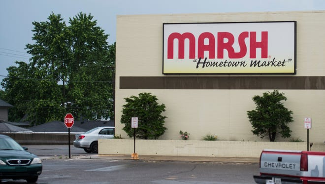 The front of the Marsh grocery store at 501 National Road West is seen on June 14, 2017.