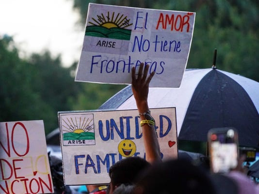USP NEWS: IMMIGRATION PROTEST A USA TX