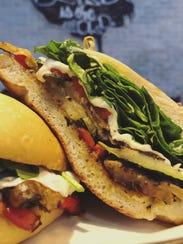 Over Easy Kitchen veggie panini.