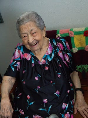 "Rose Mackie, a Las Cruces Resident who turned 100 years old in March. Friday, September 15, 2017. When asked what advice she had for others, she said, about being married. ""One thing is important never go to bed mad at each other, always make up because you never know the next day what going to happen to you or your husband."""