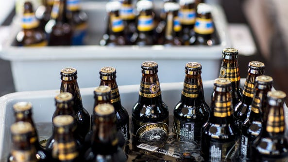 Bottles of Old Rasputin Russian Imperial Stout from