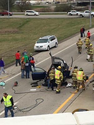 A Chillicothe High School student was flown to a Columbus hospital Sunday after she was involved in a crash on Three Locks Road.