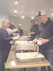 A hot meal was appreciated during the 50th anniversary Farmer's Day by the attendees and vendors.