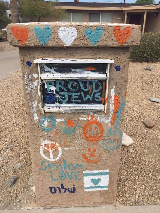The Simones family's mailbox now reads 'Proud Jews.'