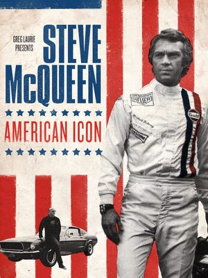 "The poster for the faith-based documentary ""Steve McQueen: American Icon."""