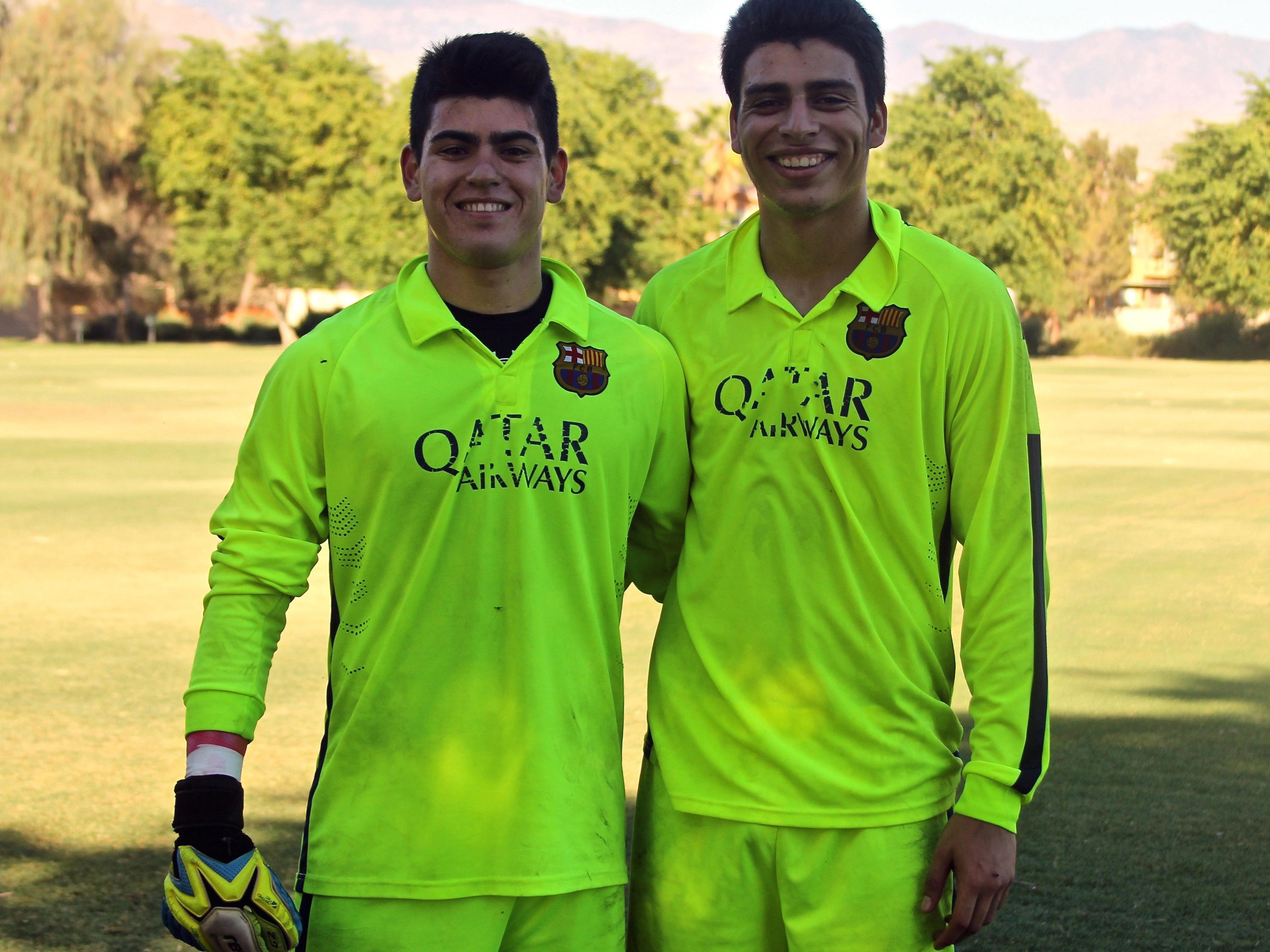 Uriel Lopez (right) is on his way to Mexico on Friday where he will start Chivas Guadalajara's Development Program. Rivera (left) has a soccer tryout this Saturday that will determine if he is qualified to join the program.