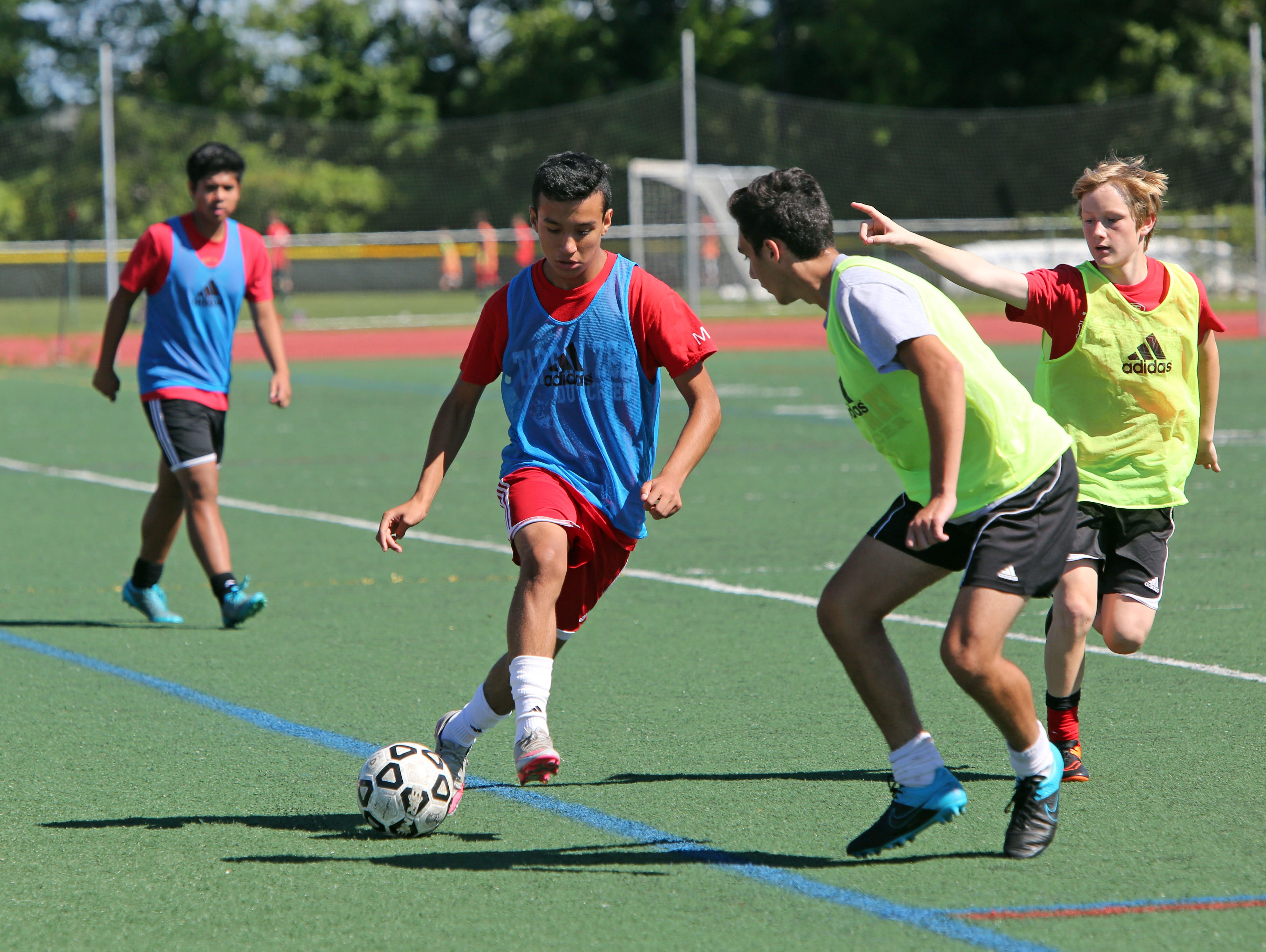 Tappan Zee sophomore Jorge Umana during the first day of soccer practice at Tappan Zee High School Aug. 22, 2016.