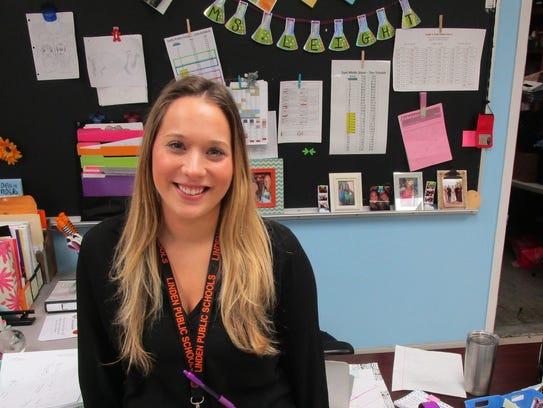 Kimberly Leight, an eighth-grade science teacher at