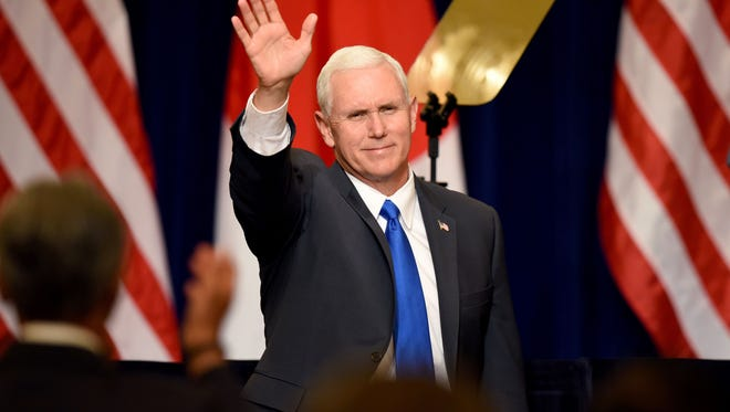TORU YAMANAKA, AFP/Getty Images Vice President Pence, speaking last month in Tokyo, stands by claims that he didn?t know Michael Flynn had been lobbying for the Turkish government until March. Vice President Mike Pence waves his hand before delivering a speech during a meeting with Japanese and U.S. business leaders in Tokyo on April 19, 2017.